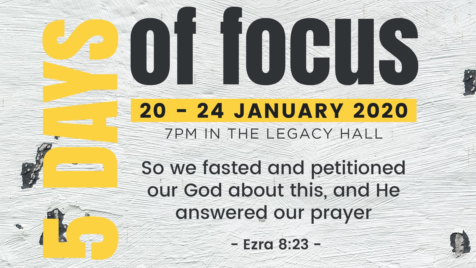 5 Days of Focus
